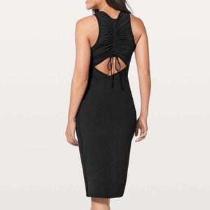Lululemon Rather Be Gathered Midi Luxtreme Dress